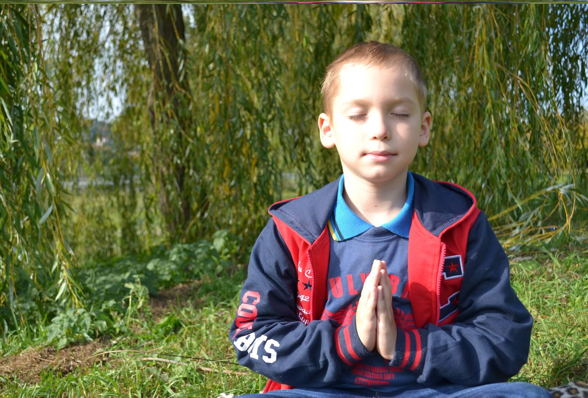 Dev doing meditation